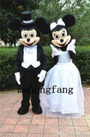 La nueva boda Mickey y el traje de la mascota del ratón de Minnie traje el traje del traje de los personajes de dibujos animados El envío libre del personaje de dibujos animados