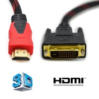 Wholesale 1 M Gold Plated HDMI TO DVI D Pin Digital Cable Lead For HDTV LCD DVD