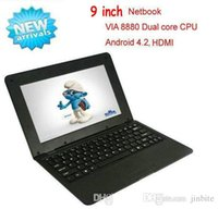 Wholesale 9 inch Mini laptop VIA8880 Netbook Android laptops VIA8880 inch Dual Core Cortex A9 Ghz MB GB HDMI Netbook XB09