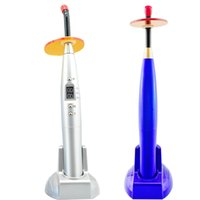 Wholesale New Dental W Wireless Cordless LED Curing Light Lamp mw Blue Light Freeshipping