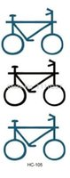bicycle temporary tattoos - Small and simple tattoos Temporary Bicycle Tattoo Sticker sheets