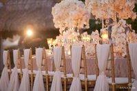 Wholesale 2015 New Fashion Chiffon Chair Sash Beautiful Wedding Chair Cover Party Banquet Decor