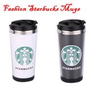 stainless steel coffee mug - Novelty Starbucks Double Wall Stainless Steel Mug Flexible Cups Coffee Cup Mug Tea Travelling Mugs Tea Cups Wine Cups