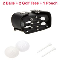 Wholesale 5 in Mini Portable Golf Accessories Set Golf Balls Golf Tees Ball Holder Leather Bag Pouch with Clip