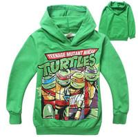 Wholesale 2014 new arrivel colors turtles pattern Ninja Turtles Hoodies Sweatshirts coat children hoody hoodies kids sweater long sleeve Jackets