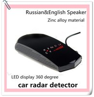 Wholesale High quality car aotu supplies Russian English speaking anti speed radar detector police radar gun detector factory Tungsten steel
