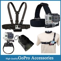 aluminum light point - Gopro SJ4000 Accessories Head Belt Chest Belt Wrist Strap Bag Light Weight Points Chest Belt for Hero sj6000 sj5000