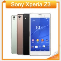 Wholesale Sony Xperia Z3 Original Unlocked GSM G G Android Quad Core GB RAM quot Screen MP Camera WIFI GPS GB Storage