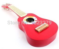 big baby guitar - Infants and young children wooden guitar music toys surprise gift for kid Children s educational toys big red freeshipping
