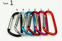 Cheap Carabiner Ring Keyrings Key Chains Sport Carabiner Camp Snap Clip Hook Keychain Hiking Aluminum Convenient Hiking Camping Clip On Keychain