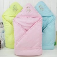 Wholesale Solid color baby quilt newborn autumn and winter baby holds baby winter multifunctional baby blankets newborn