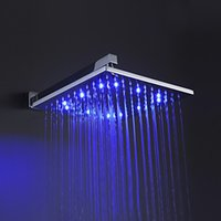 other Aerators Square Manufacturer B&R Fashion12 Inch led light chuveiro Square Overhead LED Rainfall Shower Head with shower head arm LED121200A