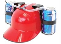beer drinking helmet - Creative drinking helmet hat for lovers and lazyman helmet hat with function drink cola wine beer water