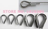 Wholesale 25PCS M8 galvanized wire rope thimble thimble wire rope sleeve sleeve wire rope clip wire rope clamp