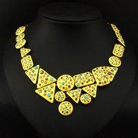 achat en gros de forme irrégulière de conception-Mode Femmes Charm 2015 Marque Irregular Forme Strass Chokers collier Costume Jewelry Statement Colliers # 3278