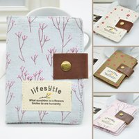 Wholesale Hot Sale Flower Pattern Canvas Credit Card Bag Summer Style Floral Card Holder Card Slots Color