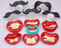 Wholesale Hot Funny Black Silicone Infant Baby Kid Child Pacifier Orthodontic Nipples Dummy Mustache Beard DHL