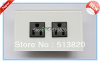 Wholesale US Wall Socket A V Crystal Tempered Glass Panel Power Socket Wall Outlet