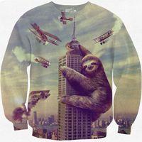 animal carriers - Big animals printed Men women hoodies funny Hip Hop print many bomb carrier d sweatshirt Hoody pullover B9