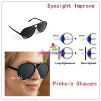 Wholesale Eyes Exercise Black Pinhole Glasses Vision Eyesight Improve health care glasses For Adult Kids