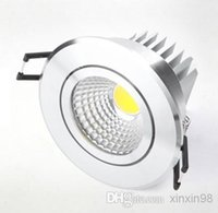 Wholesale DHL X10PCS CREE High Power W W W COB LED Dimmable downlight LED ceiling lamp LED Recessed Spot Light
