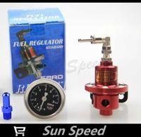 Wholesale New SARD Red Adjustable Fuel Pressure Regulator Fuel Regulator With Black Gauge