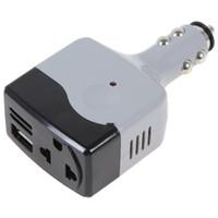 Wholesale DC V to AC V USB V Car Mobile Power Converter Inverter Adapter CEC_302