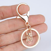 Wholesale key clasp with ring keychain connetors Lobster Clasp cm total length thick gold plated keychain material jewelry findings