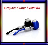 Cheap Kamry K1000 electronic cigarette kits luxury pipe EPIPE Suitewooden pen woodwind evaporator coils VS ego one mini kit kanger subox mini