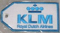 Fabric airlines klm - KLM Royal Dutch Airlines Embroidery Luggage Tag With Transparent Strap per