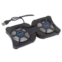 Wholesale Ultra quiet Foldable USB Powered Cooling Fans with Pad Blue Lights for Laptop Notebooks PC CLAPFN01