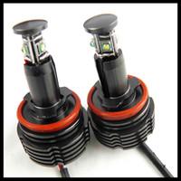 Wholesale W H8 E92 LED Angel Eyes for BMW Headlight cree led super bright led lights