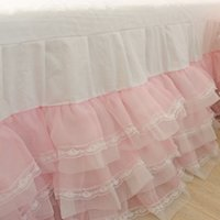 bd white - BD lace yarn superheavy of workers and white princess wedding dress bed skirt
