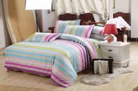 Wholesale Hot sale bedding set striped fashionable bedclothes sheet spread linen
