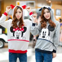 Wholesale Winter Korean Style mickey mouse sweatshirt of the fat girl plus fertilizer XL guard Obi cap cartoon Mickey hoodie thin