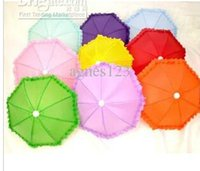 Wholesale Candy color solid color Lace Umbrella Dance Umbrella Umbrella toy props umbrella special multicolor top sale new brand