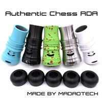 chess - 100 Authentic Chess RDA Rebuildable Dripper Atomizers Thread mm Post Holes Airflow Control Vaporizer PEEK Insulator MADAOTECH DHL Free