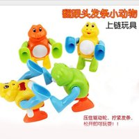 Wholesale 2 yuan on a chain somersault somersault somersault somersault frog cow pig elephant fangendou toy stall