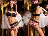 sexy bedroom costumes - 5pcs intimates Underwear Bra Sets Women Print Spicy Pirate Bedroom Sexy Costume for adults S8820 fantasias femininas