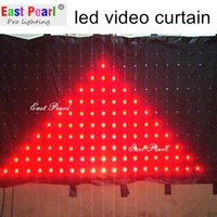 Wholesale A15510 H5 ft x W16 ft led video vision curtain pitch mm DMX remote SD CARD mobile entertainers dj shows nightclubs stage backdrops