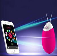 Wholesale Leten Vibraton Egg Smart APP Vibrators Speed Silicone Dildos Wireless Remote Control Vibrator Sex Toys For woman Erotic Products
