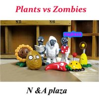 Wholesale By EMS Plants vs Zombies PVZ Collection PVC Figures Toy Xmas gift and retail set