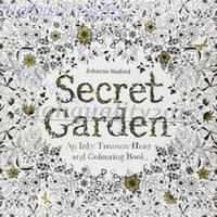 Wholesale Original English Secret Garden Inky Treasure Hunt Color Children Adult Relieve Stress Kill Time Graffiti Painting Drawing Book