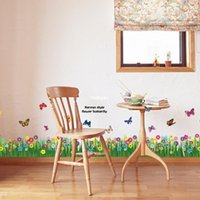 skirting direct - 10pcs New factory direct promotional backdrop decorative wall stickers butterfly bushes skirting AM5005