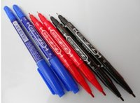 art glass marks - Oily Marker pen CD marker pen Small Double marker Glass Mark pen