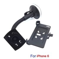 Wholesale 50pcs in Car Swivel Mount Holder Dock bracket Set for inch Apple iPhone with foot rest By Fedex