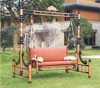 Wholesale patio rocking chair garden continental carved swing hammock hanging chair