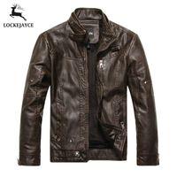 Wholesale Fall Leather jacket men biker jaqueta de couro masculina mens leather jackets and coats PY001