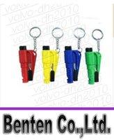 Wholesale llfa1544 in Whistle Seat Belt Cutter Window Break Keychain