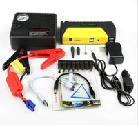 auto battery voltage - selling Car Jump Starter For V Diesel Petro Auto EPS Emergency Car Battery Charger Mobile Power Bank red color compresso with packages